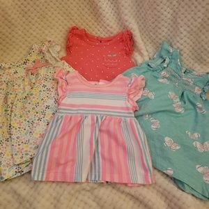 Set of 4 baby girl dresses